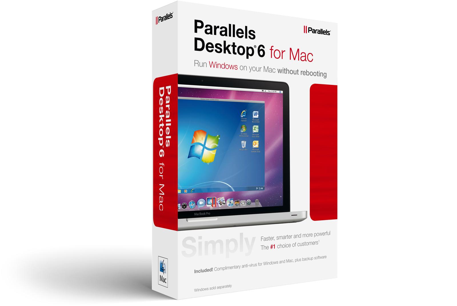 Caixa em inglês do Parallels Desktop 6 para Mac