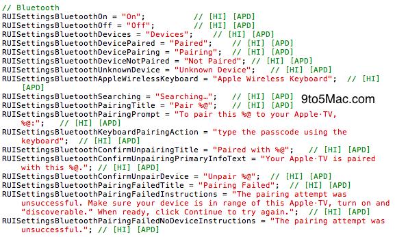 Configuração de Bluetooth no iOS do Apple TV