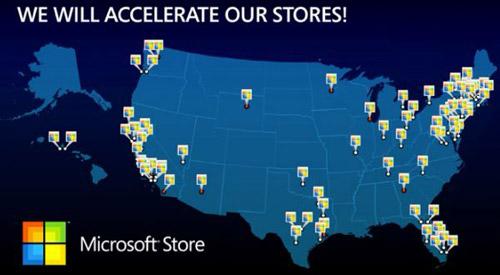 Microsoft Stores nos Estados Unidos