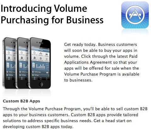 Apps em volume