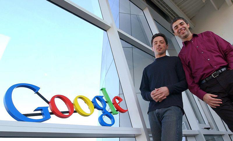 Sergey Brin e Larry Page, do Google