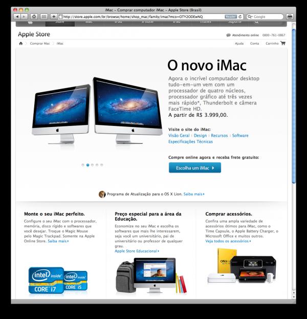 iMacs com o OS X Lion