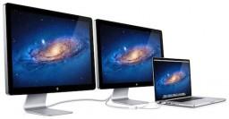 LED Cinema Displays conectados a MacBook Pro via Thunderbolt