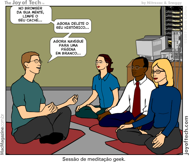 Joy of Tech - Sessao de meditacao geek