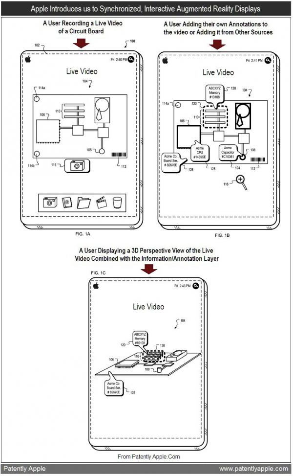 Patente de anotações em realidade aumentada