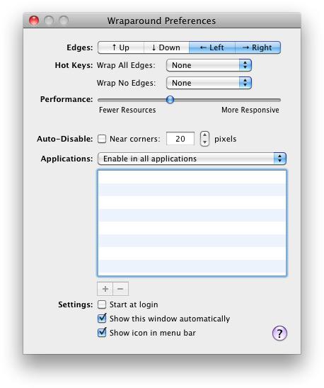 Wraparound - Mac OS X