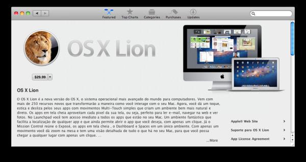 OS X Lion na Mac App Store