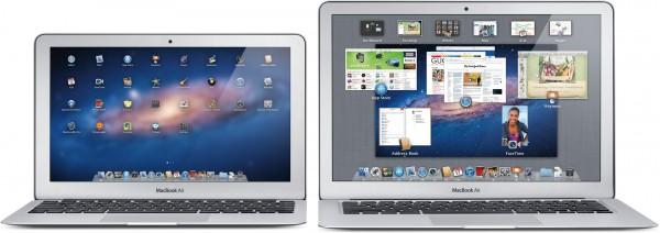 Novos MacBooks Air de frente