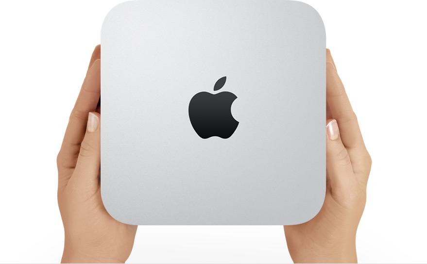 Mac mini de cima, nas mãos