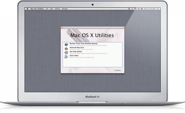 Lion Recovery num MacBook Air