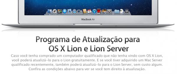 Programa de Atualização do OS X Lion