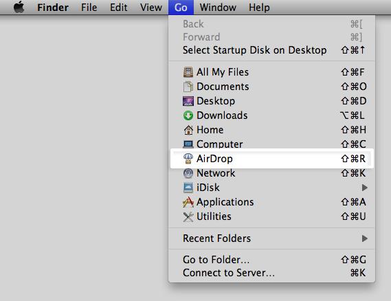 AirDrop no OS X Lion