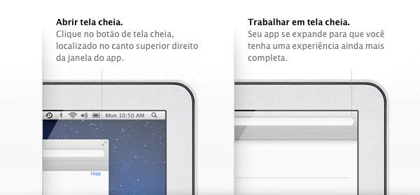 Apps em tela cheia (full screen) no OS X Lion