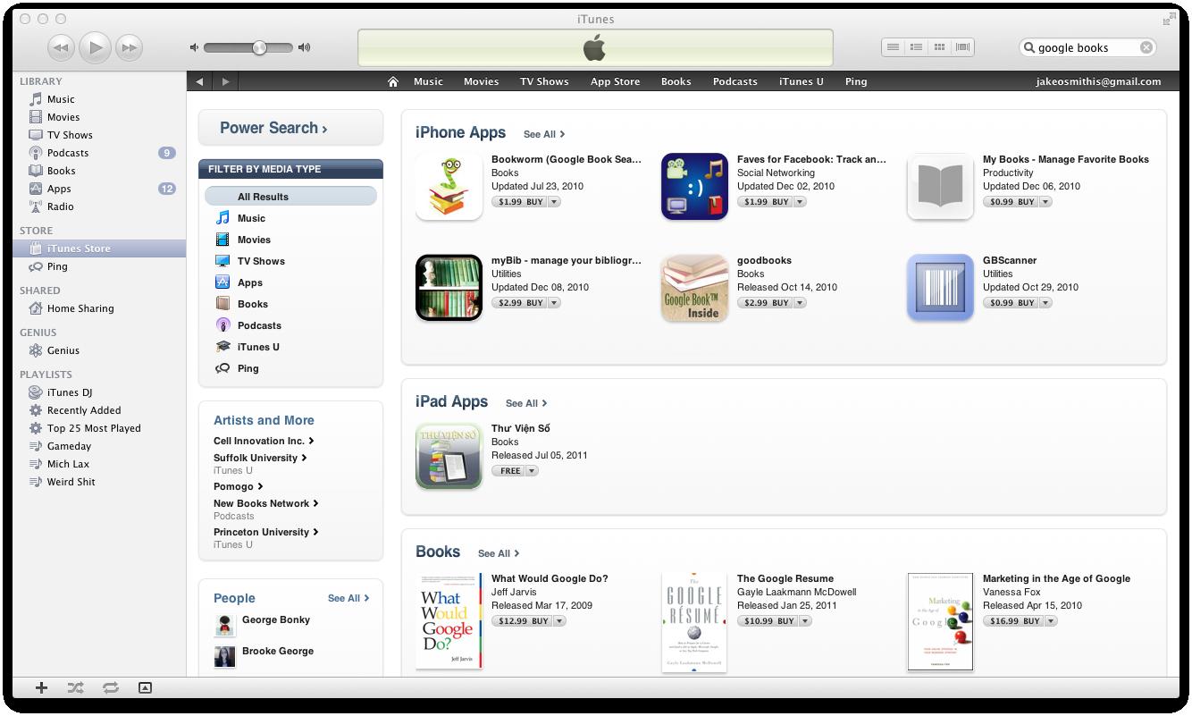 Google Books indisponível na App Store