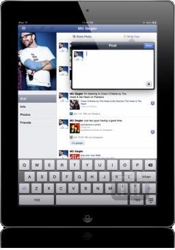 App do Facebook para iPad