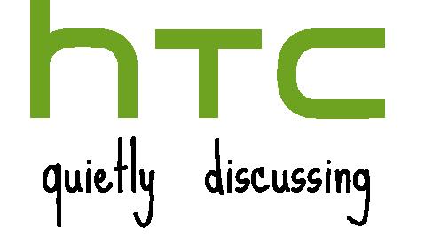 Logo da HTC - quietly discussing