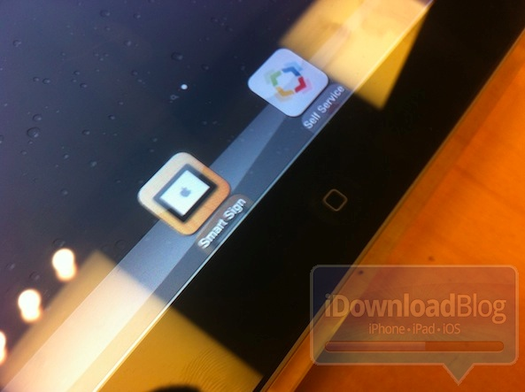 iPad com Smart Sign e Self Service