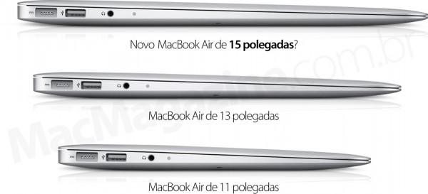 Novo MacBook Air de 15 polegadas