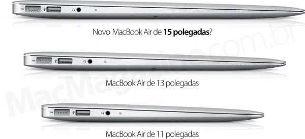 Novo MacBook Air de 15 polegadas