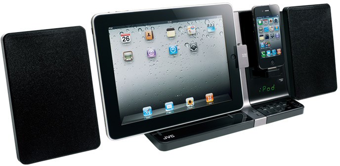JVC UX-VJ3 para iPad e iPhone/iPod