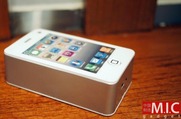 Ventilador em formato de iPhone 4 branco