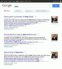 Busca do Google para tablets