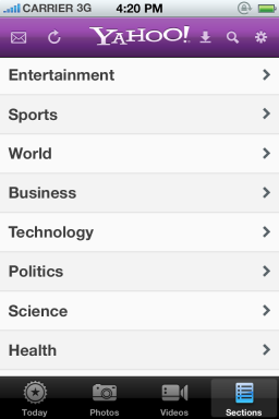 Yahoo! - iPhone