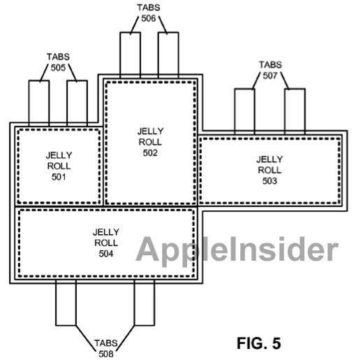 Patente de bateria com vários rocamboles