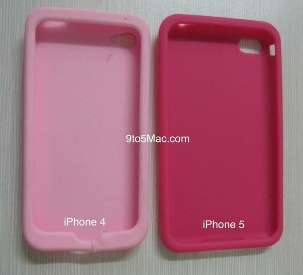Suposta case de iPhone 5 comparada com a de um iPhone 4
