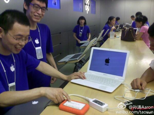 MacBook Air falso em Apple Retail Store