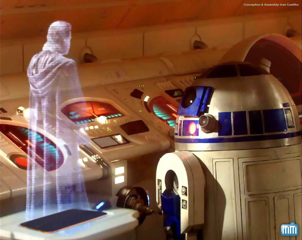 Holograma no iPad à la Star Wars