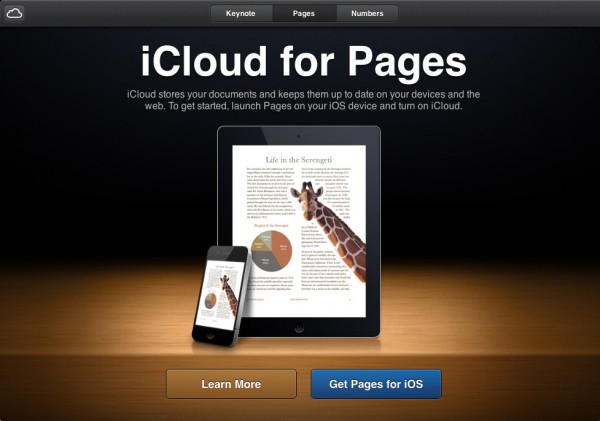 Pages no iCloud.com