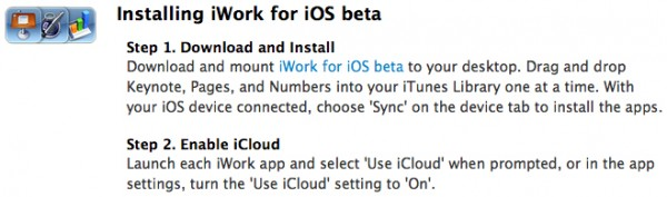 iWork for iOS beta
