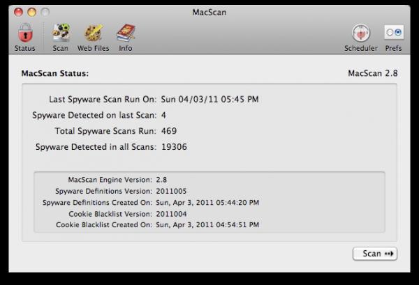 MacScan no Mac OS X