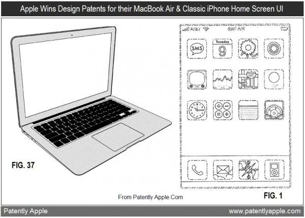 Registro de design do MacBook Air e da Home Screen