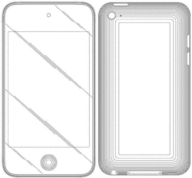 Registro de design do iPod touch 4G