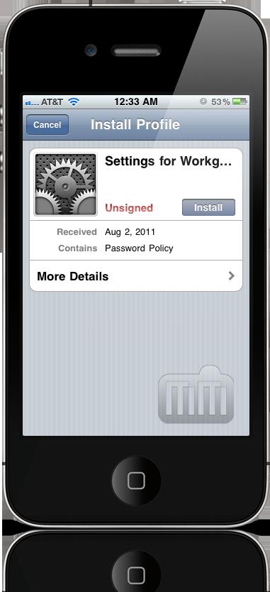 iOS Profile Manager - Lion Server