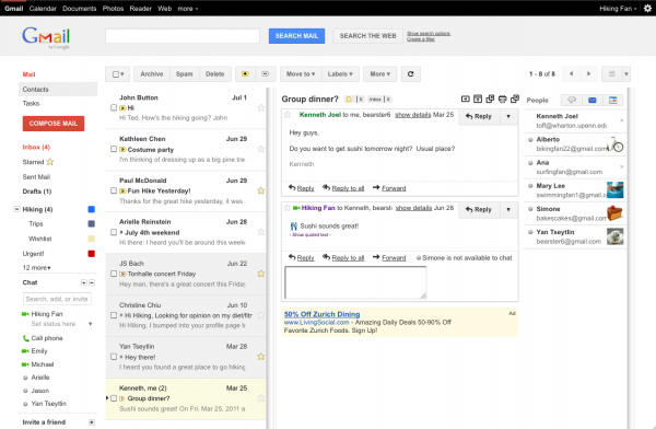 Gmail - Preview Pane