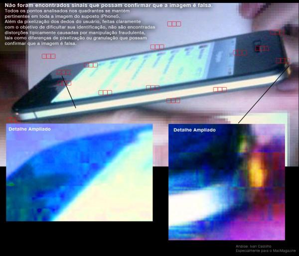 Análise da imagem do iPhone 5