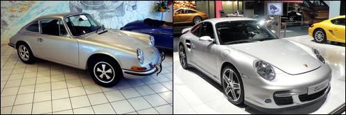 Porsches em anos