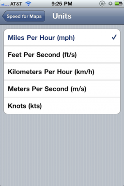 Speed for Maps