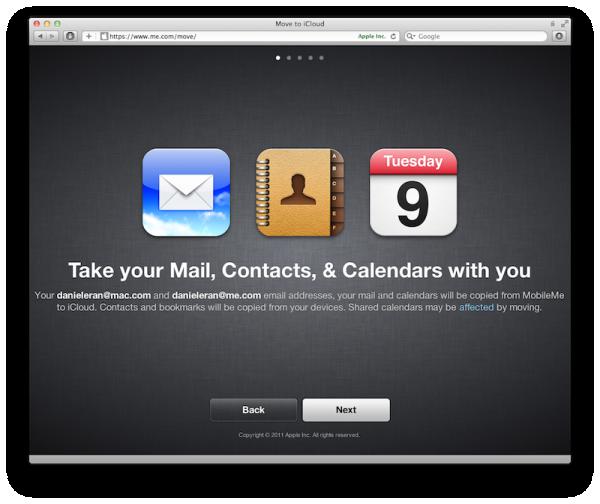 MobileMe para iCloud