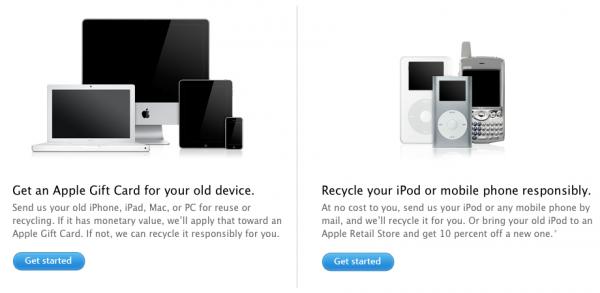 Programa de reciclagem da Apple nos EUA