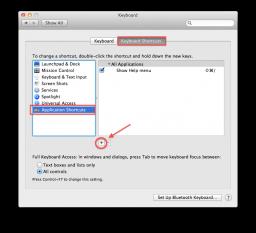 Configurando atalho de tela cheia - Passo 2