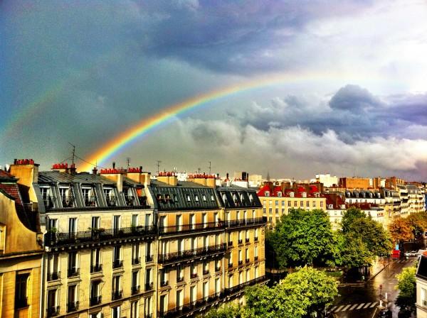Foto de arco-íris editada com o Camera+