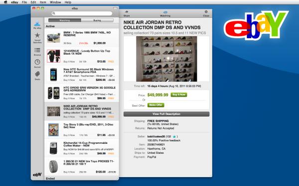 eBay - Mac OS X