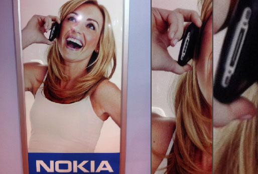 iPhone em publicidade da Nokia