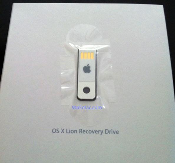 Pendrive USB de recuperação do Lion