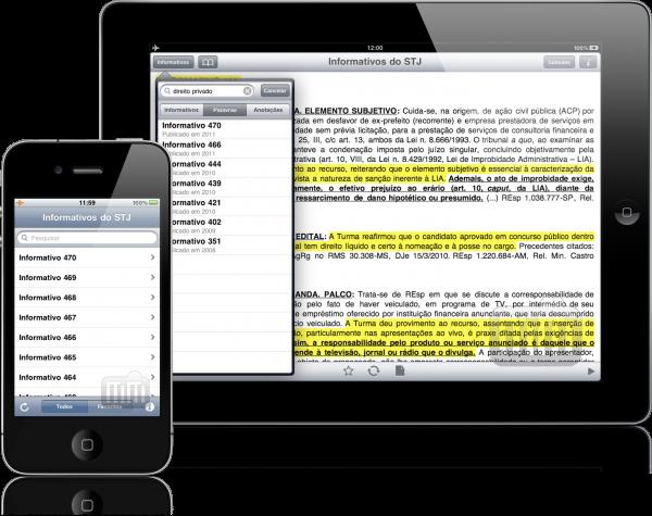 Informativos do STJ - iPad e iPhone