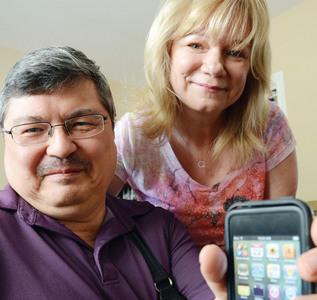 David Dorey, sua esposa e seu iPod